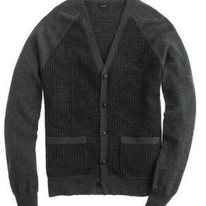 J. Crew Merino Wool Cardigan Large Gray